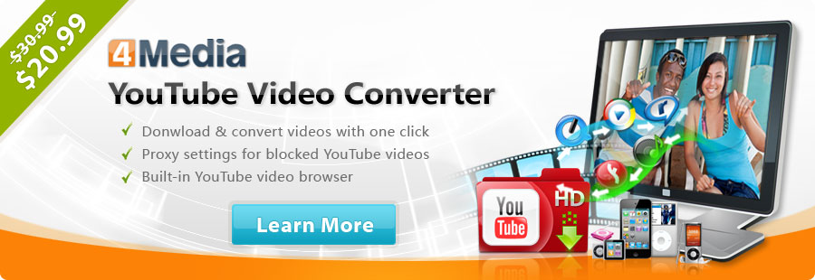Free Download and Convert YouTube Video Easily - 4Media