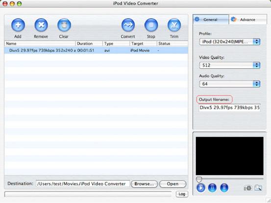 Convert videos to iPod MP4 Mac