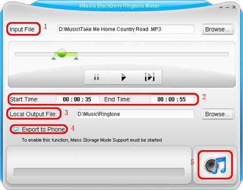 How to make BlackBerry Ringtone