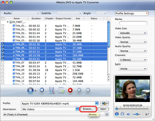 Mac DVD to Apple TV Converter