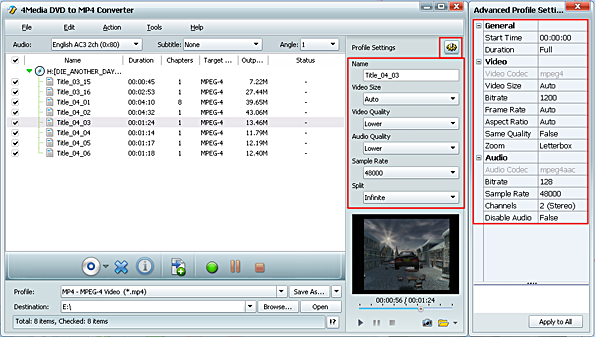 How to convert DVD to MPEG-4 videos