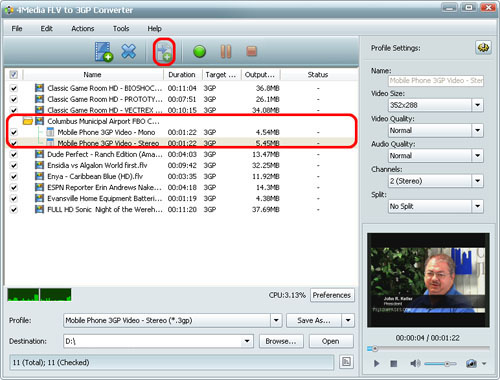 How to convert FLV to 3G2