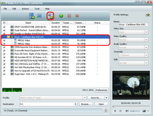 FLV to MPEG Converting
