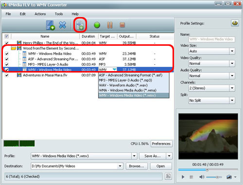 How to convert FLV to WMV format