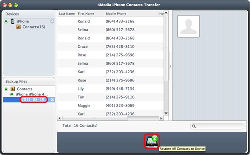 Restore iphone Contacts Mac