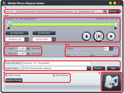 How to convert songs to iPhone ringtone