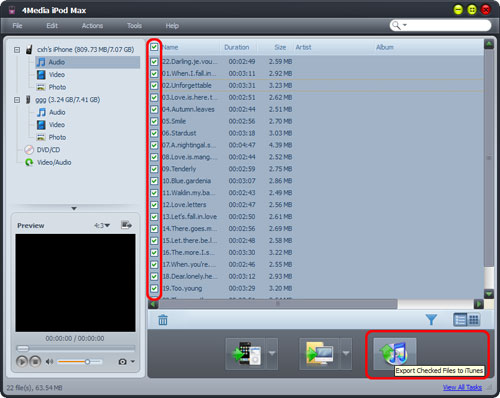 Transfer music from iPhone to PC