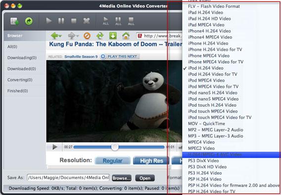 How convert Online Video