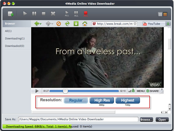 How to download online FLV for Mac