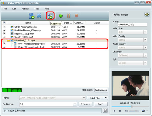 Converter MP4 to WMV