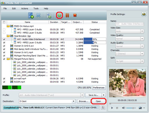 How to convert MP4 to XviD format