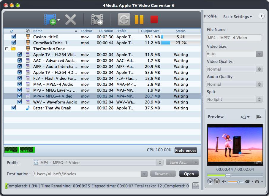 4Media Apple TV Video Converter for Mac