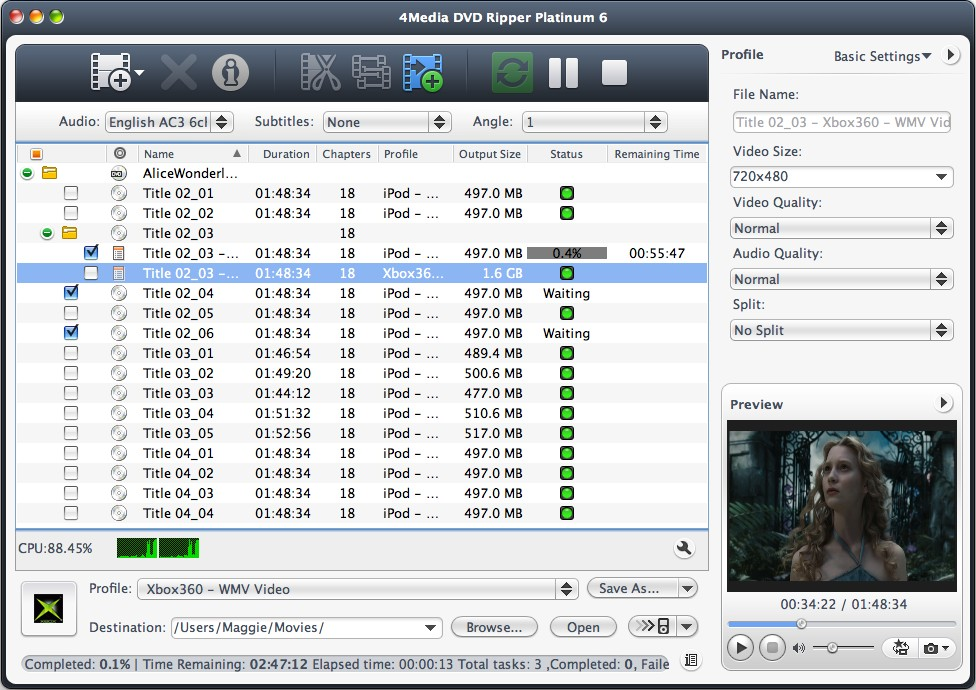 4Media DVD Ripper for Mac - convert DVD, rip DVD