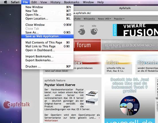 Apple Safari 4.0, Mac OS X Snow Leopard